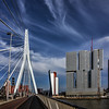 Walking the bridge in Rotterdam