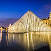 Blue hour at the Louvre, Paris