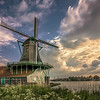 Windmill at Zaanse Schans, The Netherlands